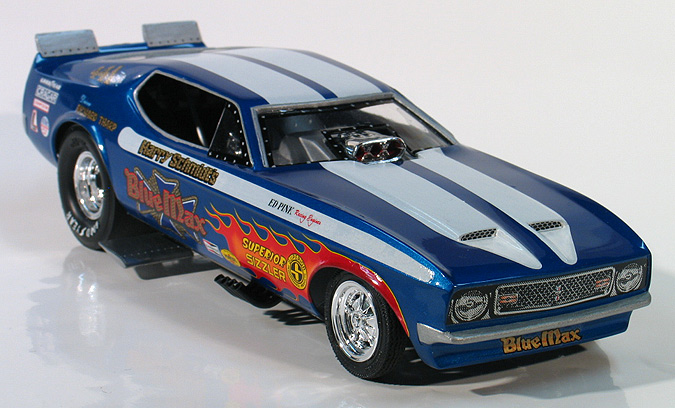 ... - Richard Tharp 1972 Blue Max Ford Mustang Funny Car - (built 2008