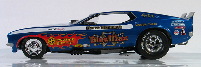 Richard Tharp 1972 Blue Max Ford Mustang Funny Car Built 2008
