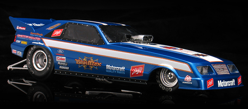 Raymond Beadle 1984 Blue Max Ford Mustang Funny Car