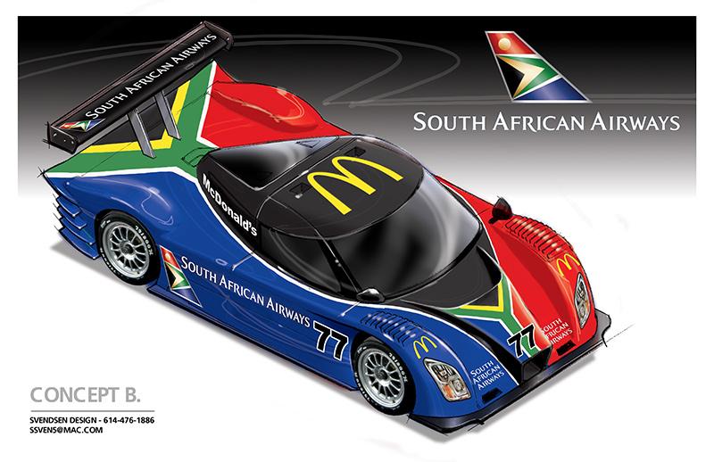 Racing Team Sponsorship Proposal Concept Sketches Designer